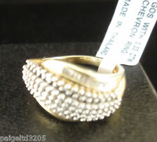 Gold over Sterling Silver 0.33 CTTW Diamond Size 7 Ring