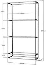 Scaffale di alluminio per 3 -4 x 120x40x50cm ACQUARI-terrari