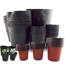 50X Plastic Pot Plant Grow Bag Container Holder Nursery Planter for Succulents