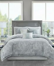 Madison Park Emory 7-Pc. Marble Cotton Sateen Flange Comforter Set - KING - Gray