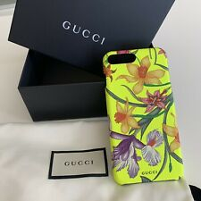 NEW Gucci IPhone 8 Case Yellow Flower With Box