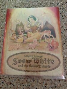 1938 Snow White And The seven Dwarfs Walt Disney Whitman Publishing Rare