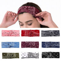 Fashion Women Bandana Print Headband Paisley Twisted Hair Wrap Twisted Headwear