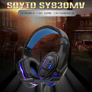Gaming Headset Kopfhörer für PC Laptop mit Mikrofon Over-Ear Game Kopfhörer DE