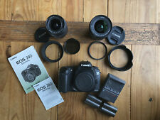 Canon EOS 20D 8.2 MP Digital Camera, used, with 2 lenses, 2 batteries, 1 charger