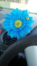 Single SKY BLUE Gerbera Daisy Car Dash Flower for your VW Beetle Bug Vase + GIFT