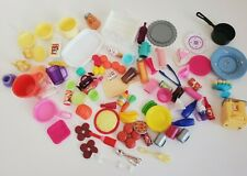Barbie Kitchen Dining Decor Accessory Lot Dreamhouse Food Plates Pans Dollhouse