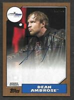 2017 Topps WWE Heritage AUTOGRAPH Dean Ambrose AUTO 92/99