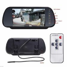 "US 7"" LCD TFT Color Screen Car Reverse Rearview Backup Camera DVD Mirror Monitor"
