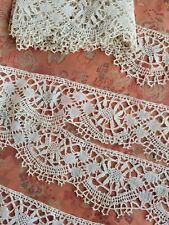 Sooo Pretty! Antique French vintage Lace Trim scalloped 2+ Yards Torchon Cluny