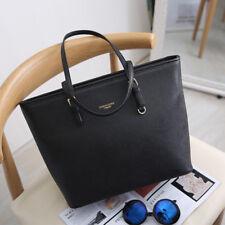 New Modern Big Black Leather Women Handbag Shoulder Bag Lady Large Capacity Work