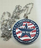 "Dallas Cowboys necklace/pendant/chain Logo:""America's Team-We Stand For America"""