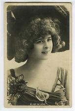 c 1904 cabaret Music Hall theater ELISE DE VERE undivided back photo postcard
