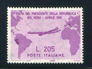 1961 Repubblica Gronchi Rosa 205 lire nuovo senza gomma spl