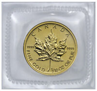 Random Date Canada 1/10 oz .9999 Fine Gold Maple Leaf $5 Coin SKU31549