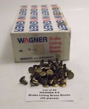 Lot of 50 WAGNER 8-6 Brake Lining Brass Rivets (50 pieces) Prepaid Shipping