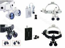 Dental Surgical Medical Headband Loupes 35x R Magnifier Amp Led Head Light Lamp