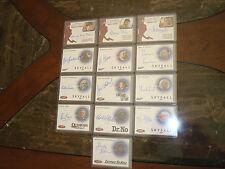 James Bond Archives 13 cards  autographs lot