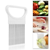 Tomato Onion Vegetables Slicer Cutting Aid Holder Guide Slicing Cutter Safe Fork