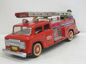 Feuerwehr-Leiterwagen, Blech, Leiter aufstellbar, Länge 26,5 cm, STI, ohne OVP