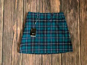 Women's Nike Golf Nike Dri Fit Blue Plaid Golf Skirt Skort Size 6 NEW NWT $98