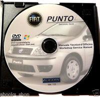 DVD MANUALE OFFICINA FIAT PUNTO 1.2 8V-16V-1.4 16V-1.8 16V-1.3JTD 16V-1.9 JTD 8V