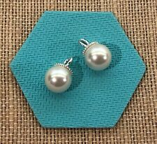 Authentic Origami Owl Silver Pearl Earring Drops - NEW