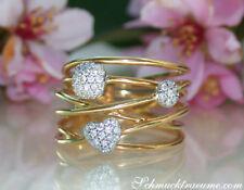 Jugendlicher Charme: Mehrreihiger Diamanten Ring, 0.26 ct. TW SI GG 750 2950€