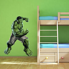 INCREDIBLE HULK Avengers Multi Colour wall art sticker boys bedroom Superhero 2