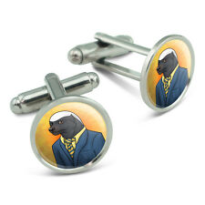 Portrait of a Honey Badger Men's Cufflinks Cuff Links Set