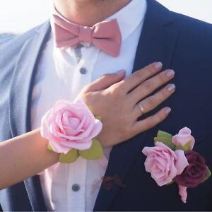 Bestman boutonniere, blush pink and marsala boutonniere, boutonniere and bow tie