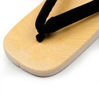 Men's Sandals Flip-flops Setta Zori Geta US 7-10 Black Japanese Kimono