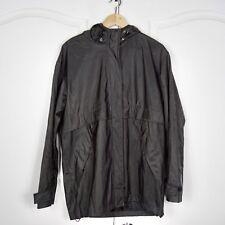 Charles Klein Size XL Polyvinyl Rain Jacket Black Shiny Rain XL