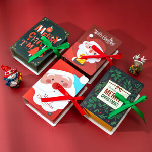 2022 NEW Christmas Book Designs Party Favour Candy Biscuit Carrier Gift Boxes