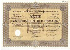 Wien - Pottendorf - Wr. Neustädter - Bahn 1942   200 Reichsmark