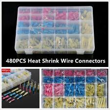 480PCS Car Marine Cable Heat Shrink Wire Connectors Assortment Crimp Terminals