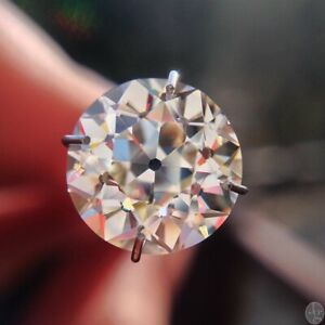 Vintage 5 MM 0.40 Carat Old European Cut Near Colorless Round Loose Moissanite