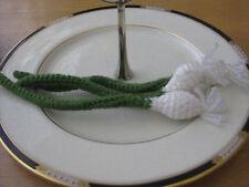 3 Hand Crochet Green Onions pretend PLAY FOOD amigurumi TODDLER FUN TOY