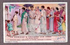Ancient Roman Wedding Marriage Ceremony Noce Bride Dress 1930s Trade Ad Card