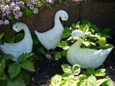 Gänse Familie Garten - Figur Gans - Ente Tierfigur Teich - Dekoration Vogel