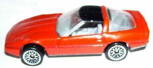 1:64 1982 Malaysia Hot wheels diecast 80s corvette metallic red w/ black roof