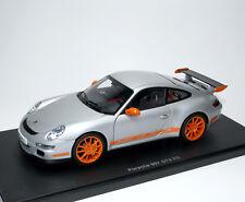 Porsche 911 GT3 RS 997 2006-2009 - silber silver orange - AUTOart 77993 1:18