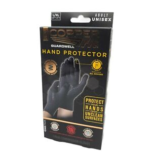 Copper Fit Guardwell Gloves L/XL Hand Protection ANTI-MICROBAL Touchscreen
