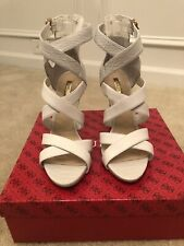 New Guess Abby White Heel Sandal Size 9.5