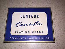 Centaur Canasta Cards 1958 2 Decks Unopened W/Tax Stamp Vintage