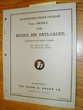 Hough HH-C PARTS MANUAL BOOK CATALOG WHEEL PAYLOADER GUIDE LIST International