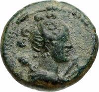 HIEROCAESARA in LYDIA 1-2CenAD Artemis Stag Authentic Ancient Greek Coin i46787