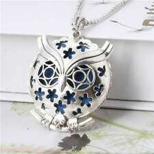 Owl Diffuser Locket Pendant Aromatherapy Essential Oil Perfume Necklace