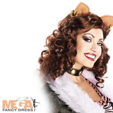 Clawdeen Wolf señoras Peluca Monster High Halloween Disfraces Adulto Para Mujer Peluca