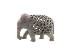 STATUE ELEPHANT EN PIERRE -STONE ELEPHANT CARVING- 5882